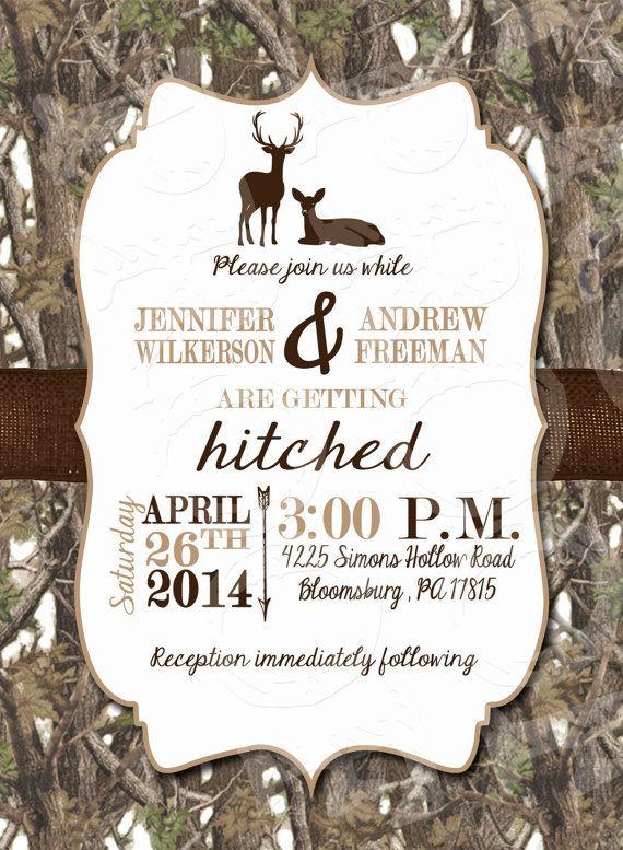 white camo deer wedding invitation and rsvp card by mrsprint - Redneck Wedding Invitations