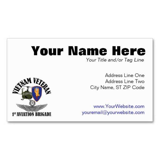 1st avn bde master aviator business card - Aviator Business Card