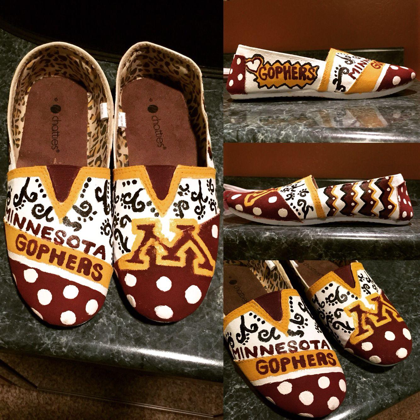 Minnesota Gophers Diy Shoes Minnesota Gophers Diy Shoes Minnesota