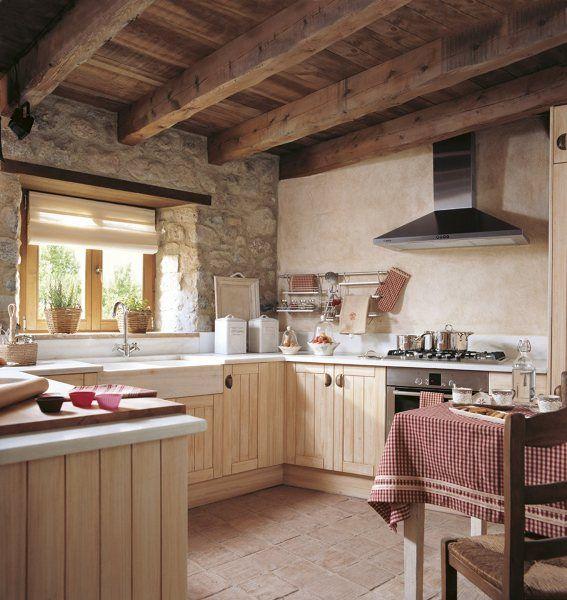 cocina rústica en casa rural | cocinas | Pinterest | Kitchens ...