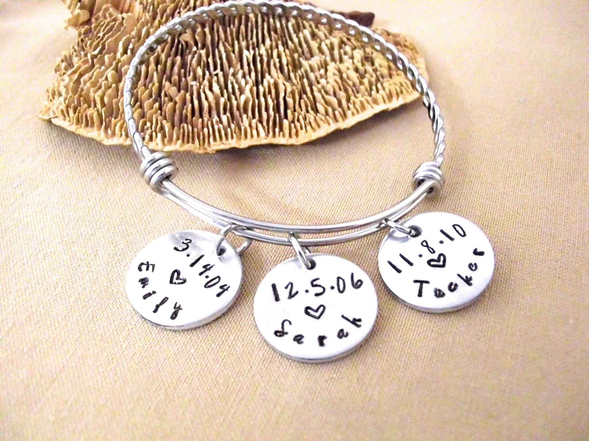 Nana Gifts Custom Nana Jewelry Personalized Grandma Bracelet New Grandma Gifts Gift for Nana Childs Name Bracelet Nana Bracelet