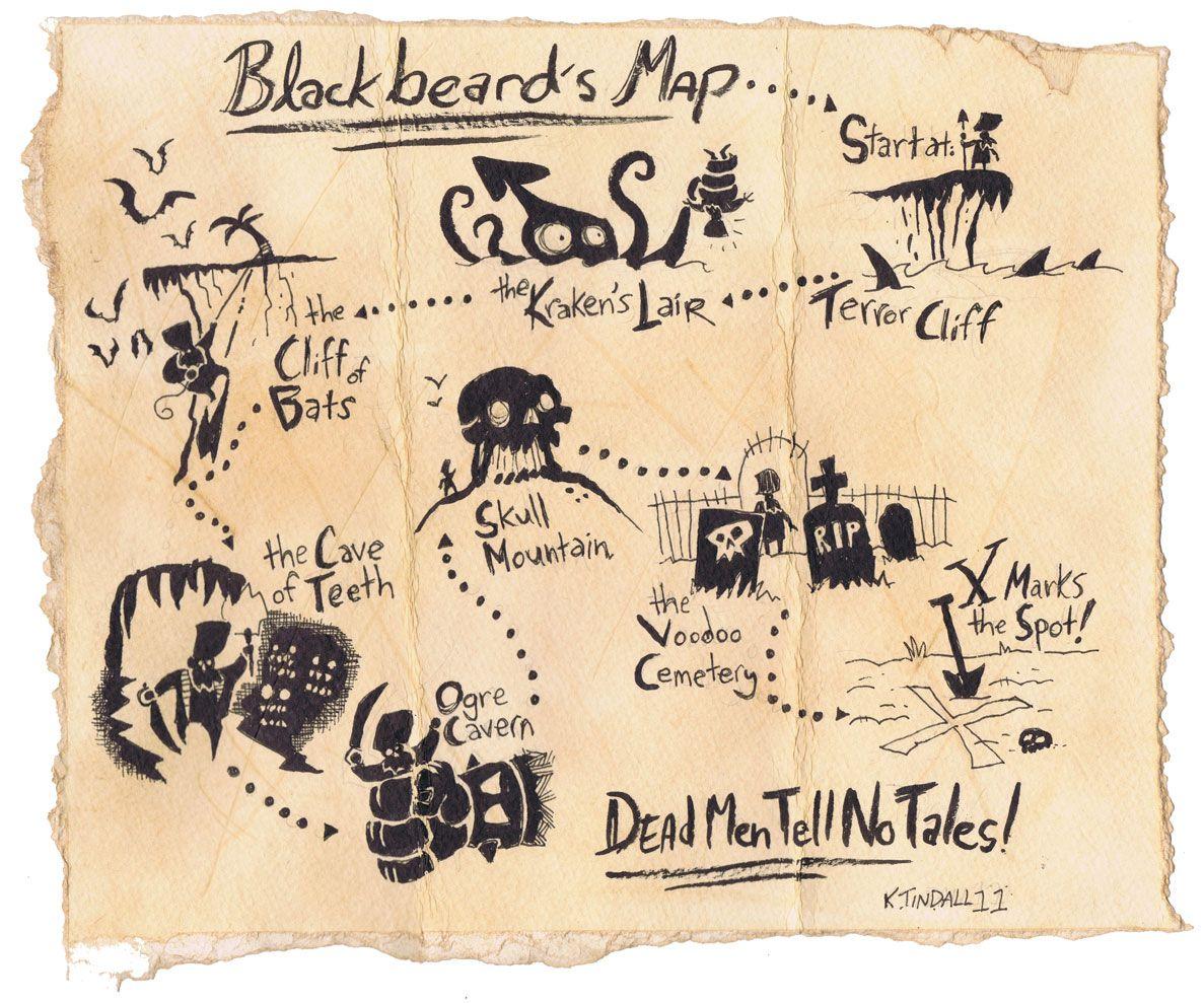 blackbeard u0027s treasure map gadd pinterest treasure maps