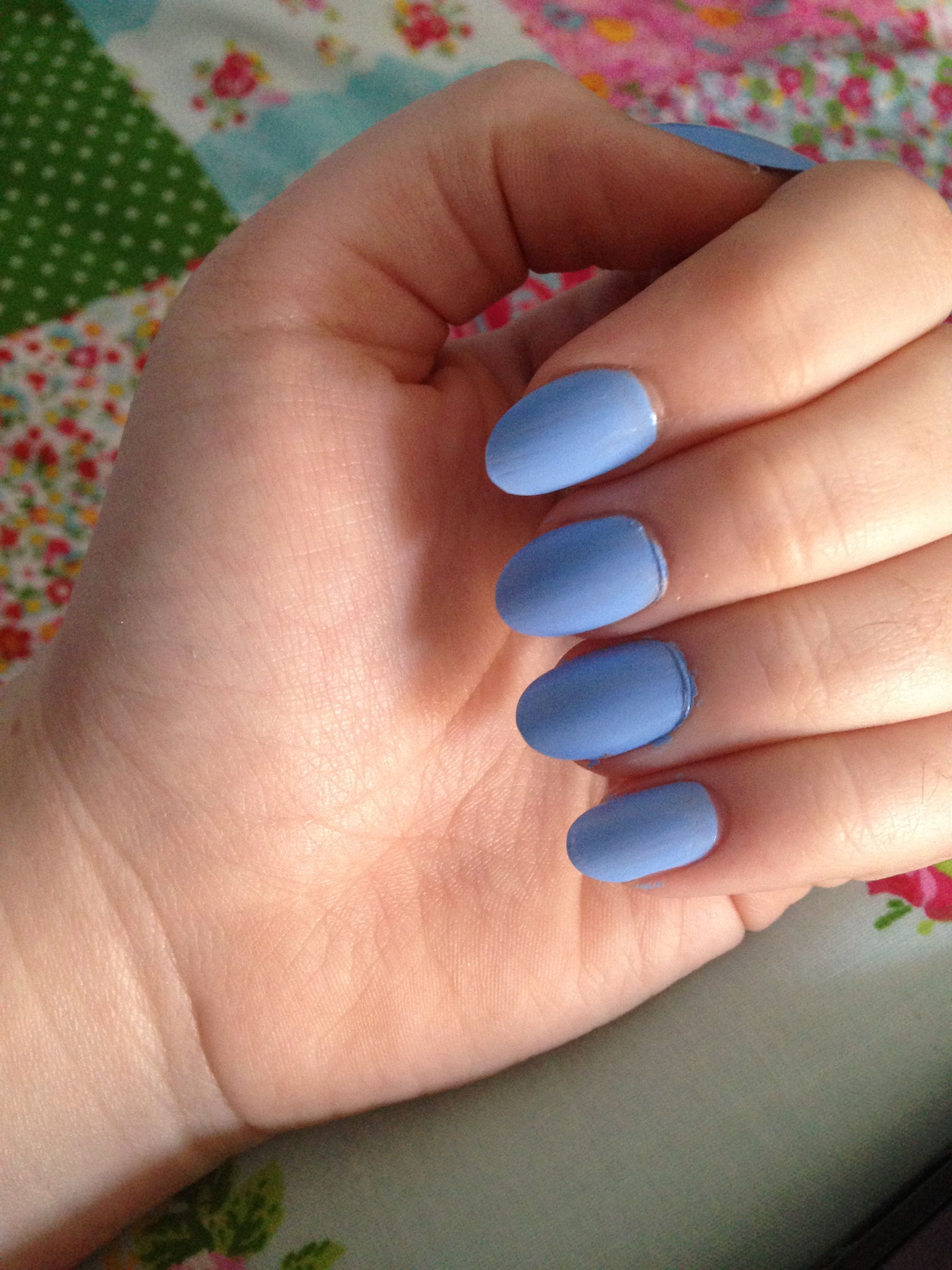 Light Blue Oval Nails Oval Nails Pink Acrylic Nails Gold Acrylic Nails