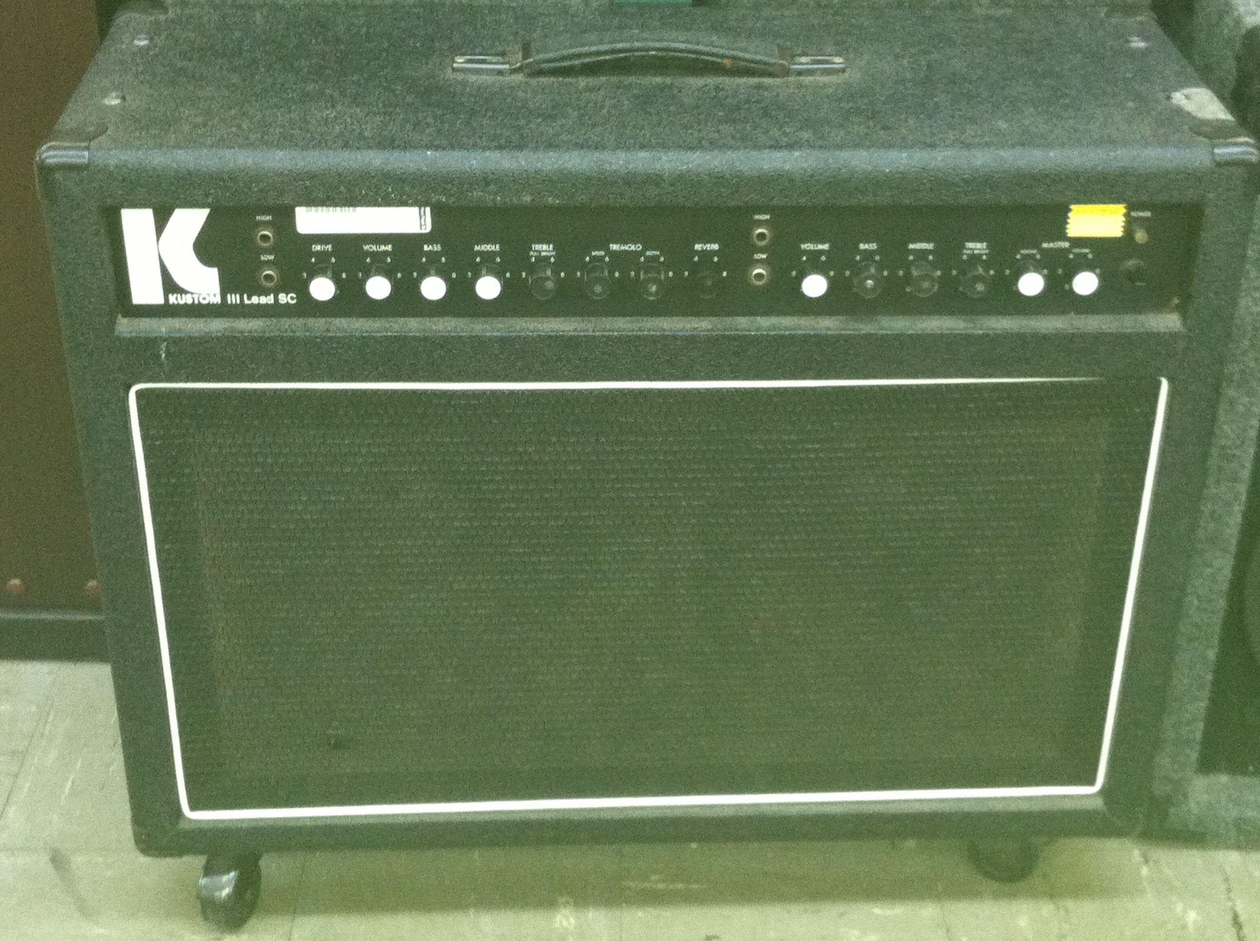 Kustom Iii Lead Sc Amp 25995 Musical Equipment Musicals Repair Schematics Fender Bassman Ab165 Schematic