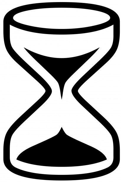 Silueta De Reloj De Arena Blanco Y Negro Fondo Blanco Dibujando