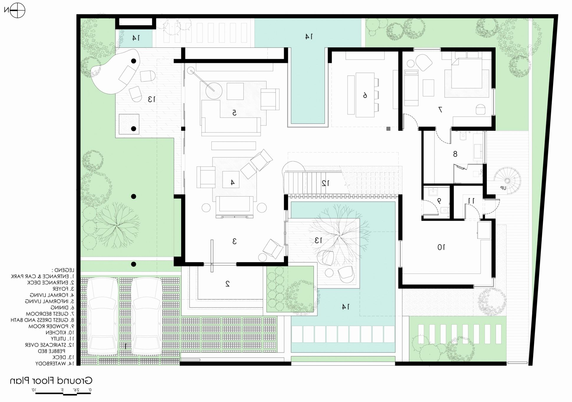 Awesome Courtyard House Plans Home Gallery U-shaped Small ...