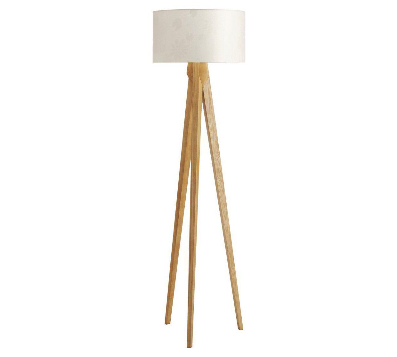 Buy Habitat Tripod Wooden Floor Lamp Ash   Floor lamps