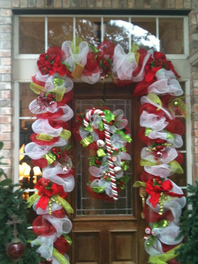 Candy Cane Decorations Pinterest Christmas Door  Christmas  Pinterest  Candy Cane Decorations