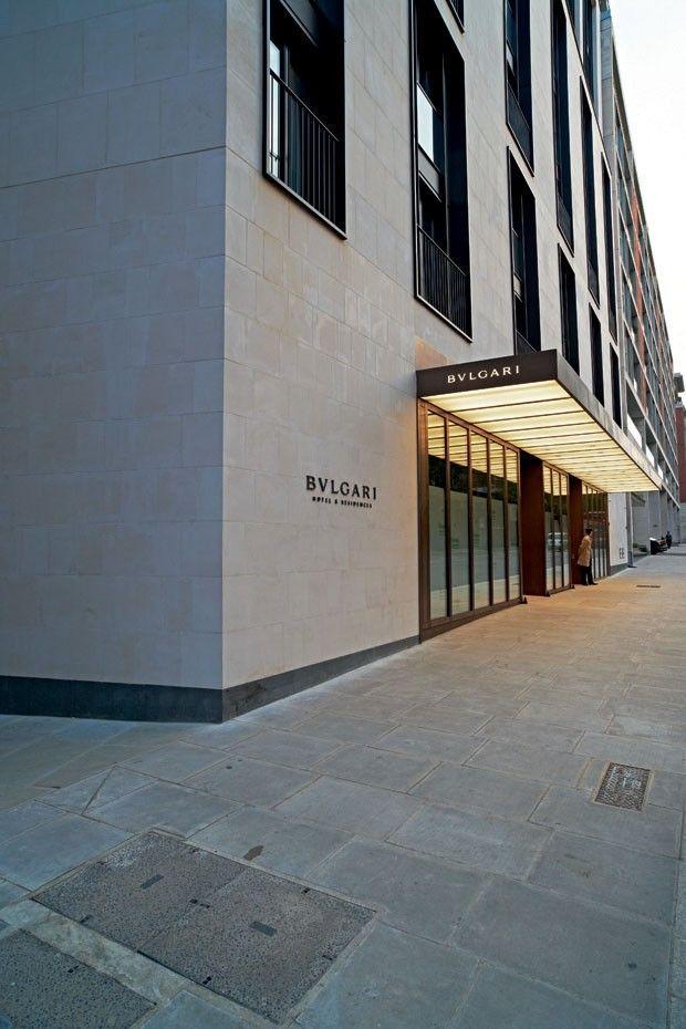 hotel bulgari inaugura em londres architectes bardage et fa ades. Black Bedroom Furniture Sets. Home Design Ideas