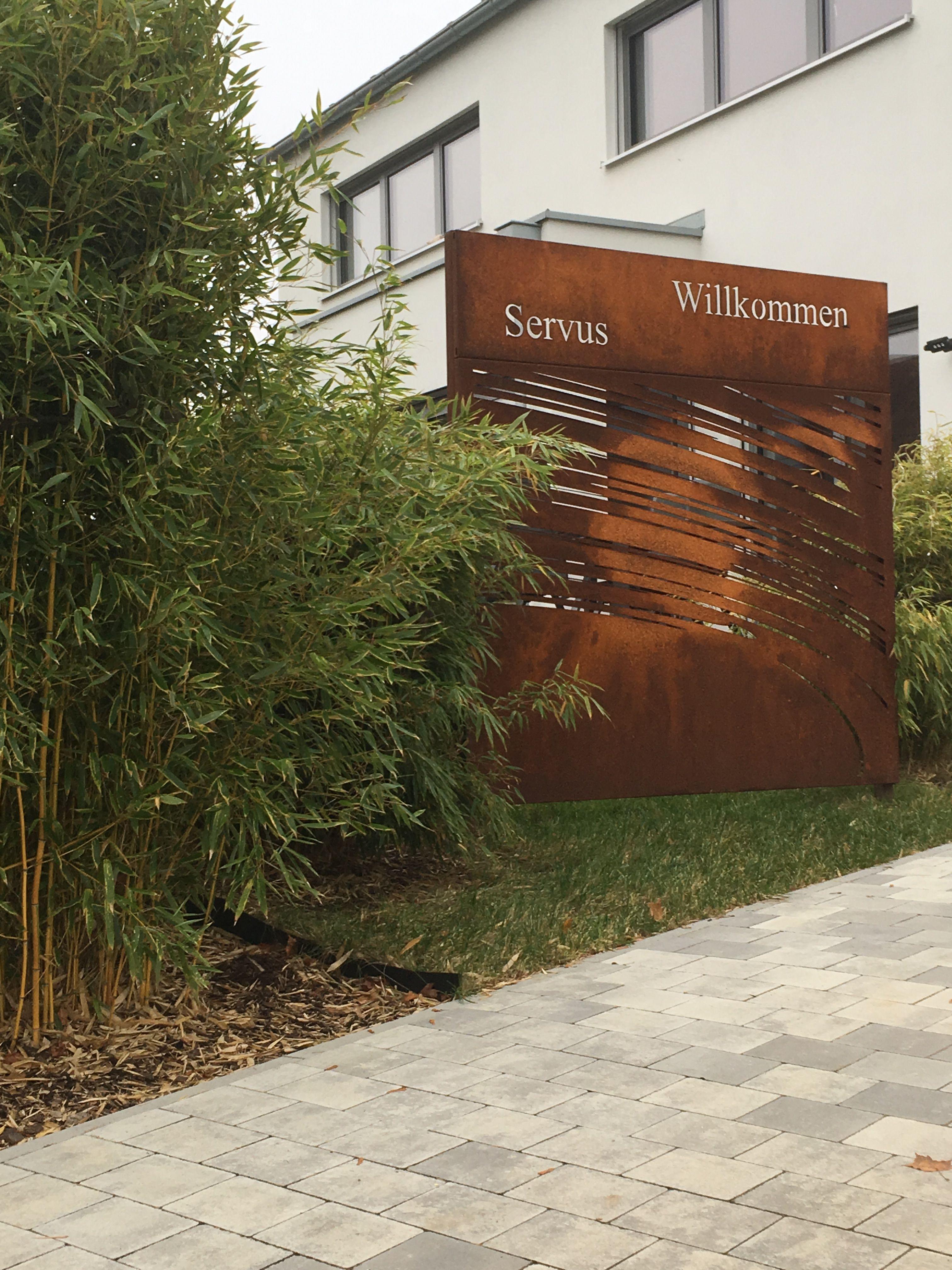 Sichtschutz Für Den Garten Aus Corten Stahl Rost In Farbe Paras