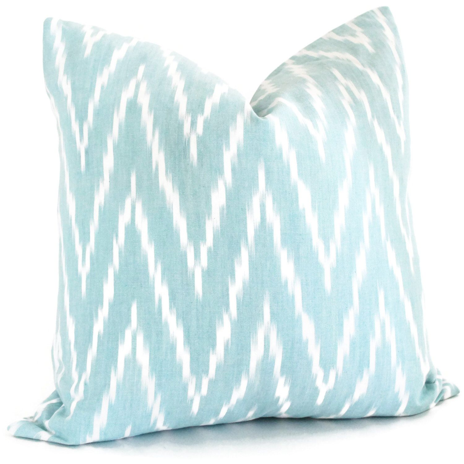 Etsy schumacher kasari ikat decorative pillow cover in turquoise
