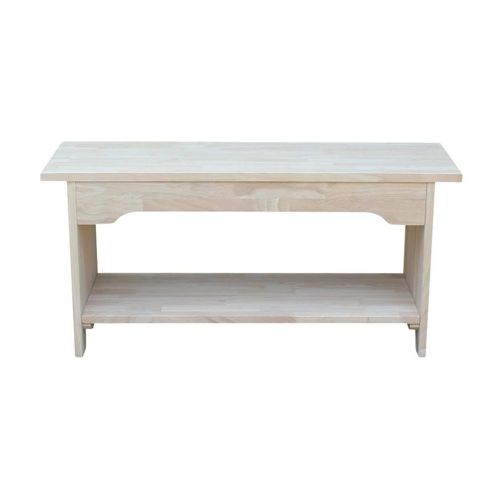 Ordinaire International Concepts Unfinished Bench BE 36   The Home Depot