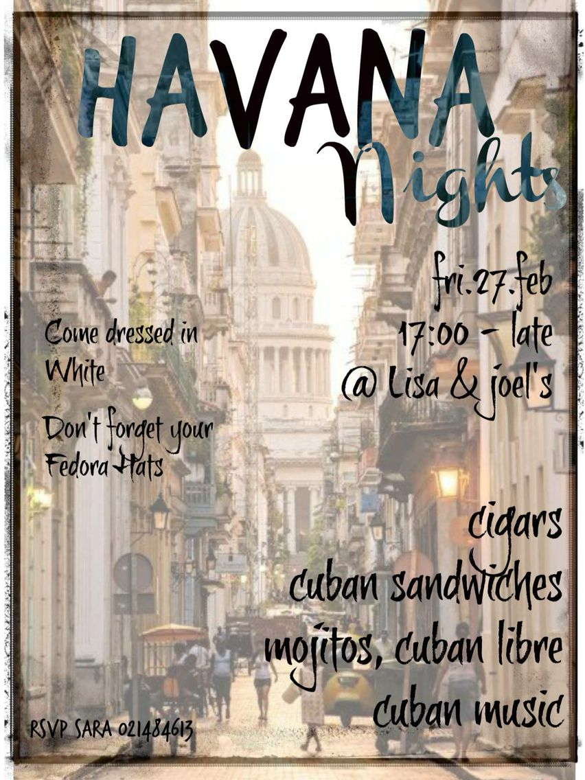 Havana Nights Party Invitation … | Pinteres…