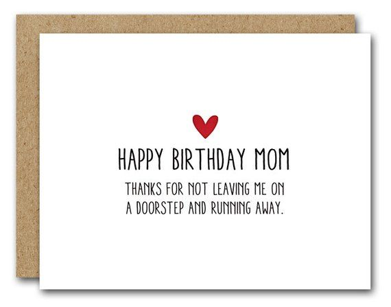 picture relating to Happy Birthday Mom Printable Cards identify PRINTABLE Mother Birthday Card, Amusing Mother Card, Immediate