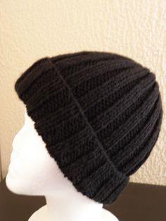 Bonnet noir   tricot   Pinterest fcf2ec2046d