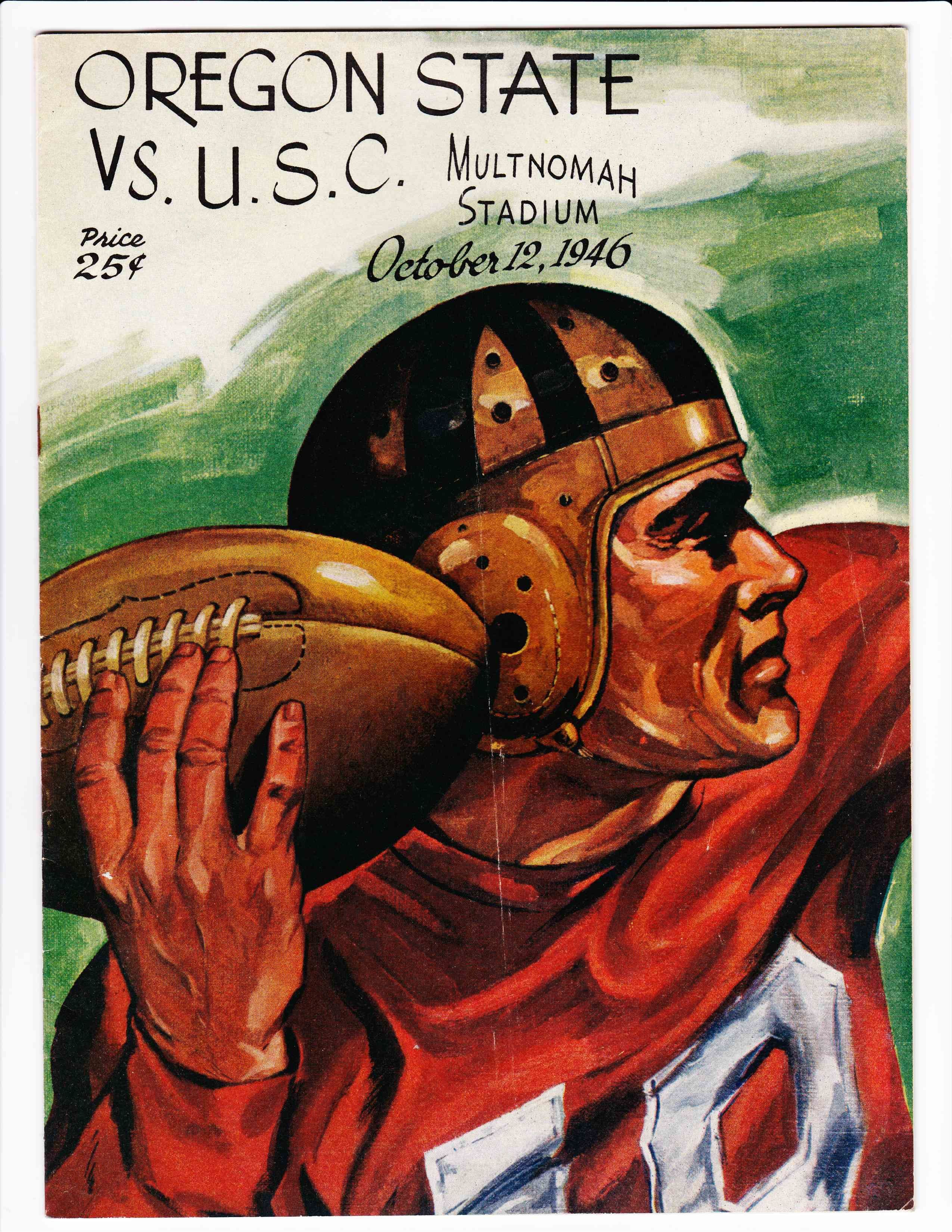 Oregon state vs usc football program 1946 football