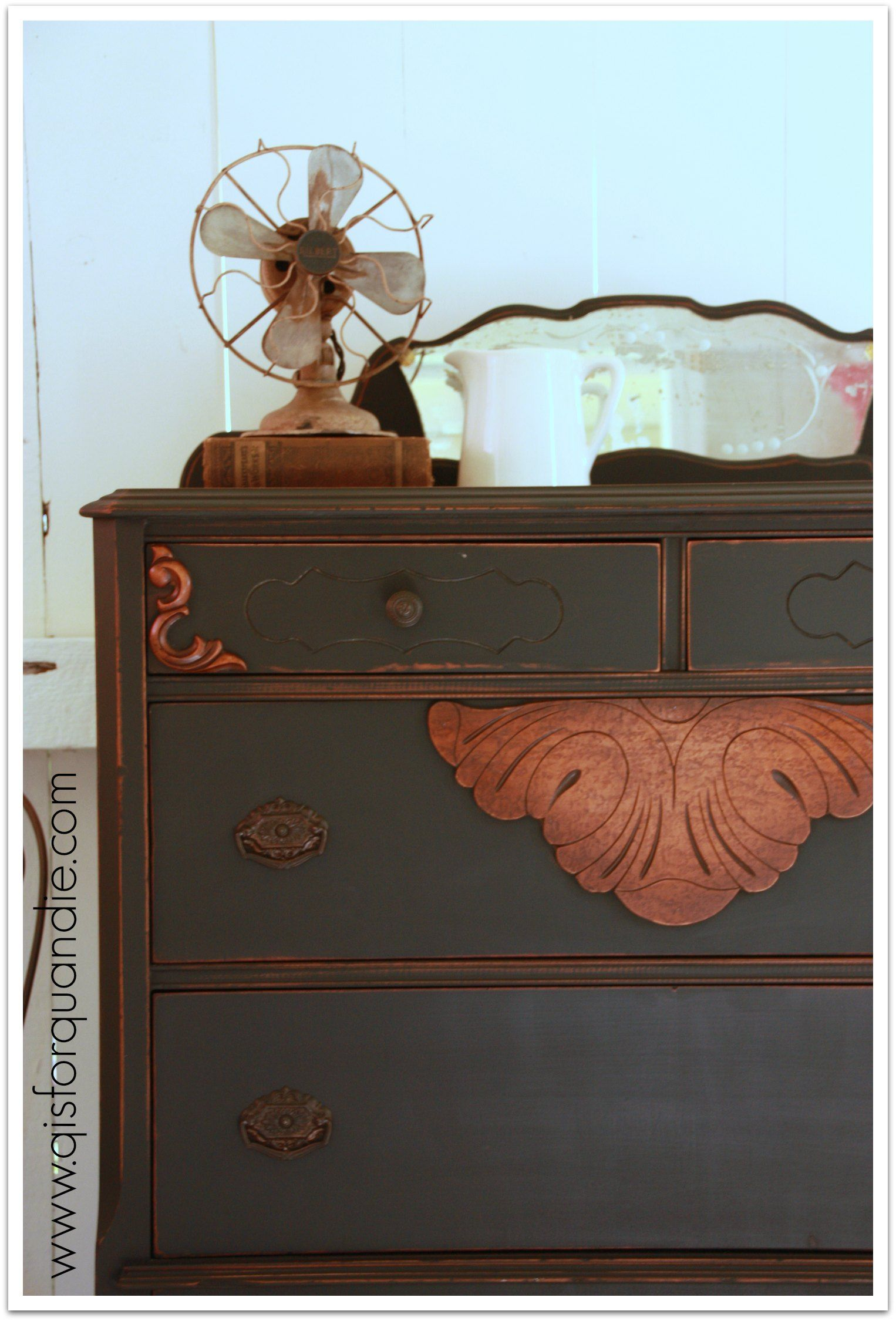 Furniture ideas  q is for quandie | from a vintage vantage point. Dresser  painted with Miss Mustard