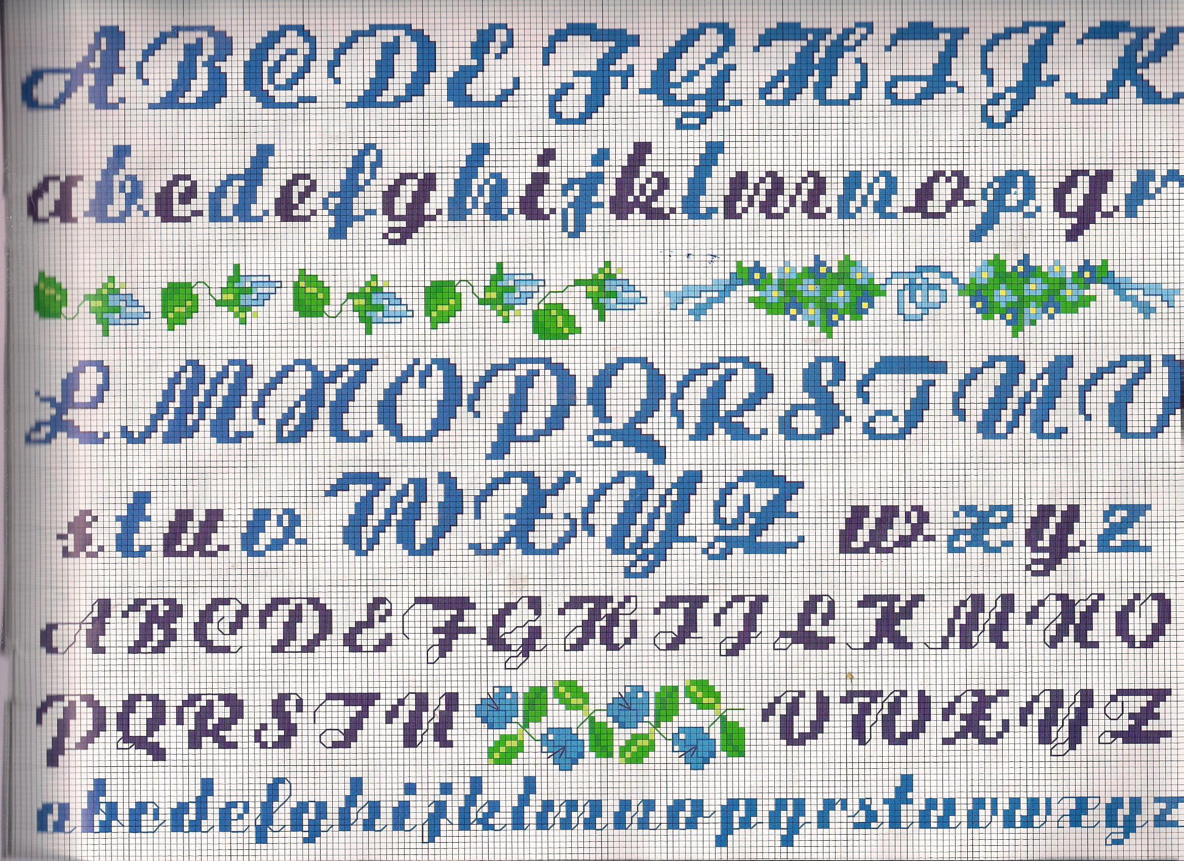 alfabeti e numeri - magiedifilo.it punto croce uncinetto schemi ...