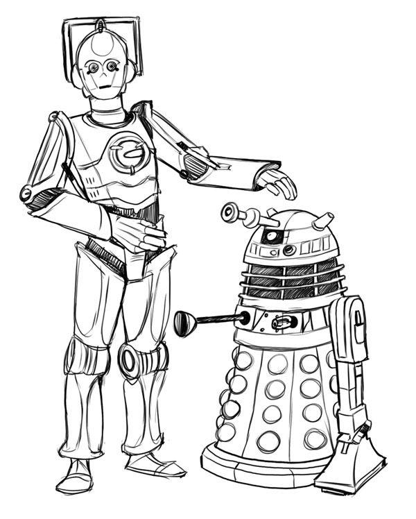 cyberman-dalek star wars doctor who mash up c3p0 r2d2 | DOCTOR WHO ...