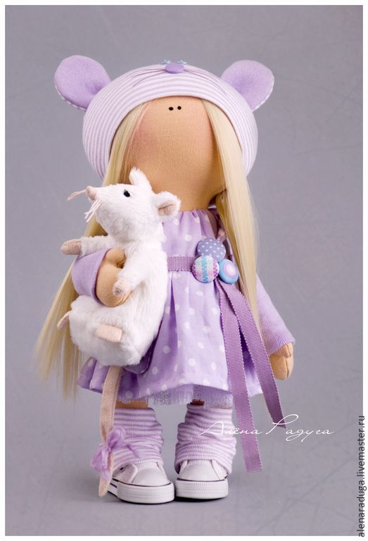 """Купить """"МЫШКИН ДОМ"""" ... - сиреневый, тильда, текстильная кукла, тедди, девочка, мышка, крыса, Праздник"""