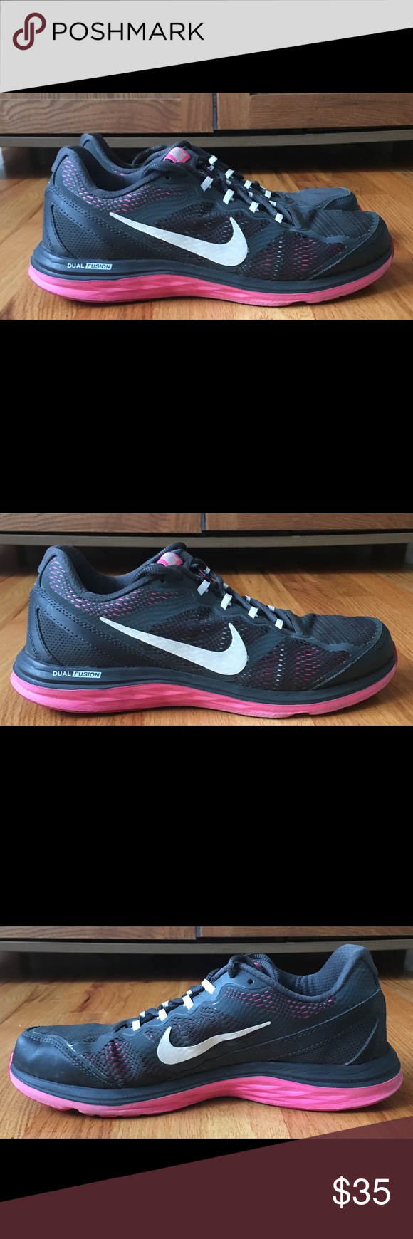 Women's NIKE DUAL FUSION RUN 3 Anthracite Trainers