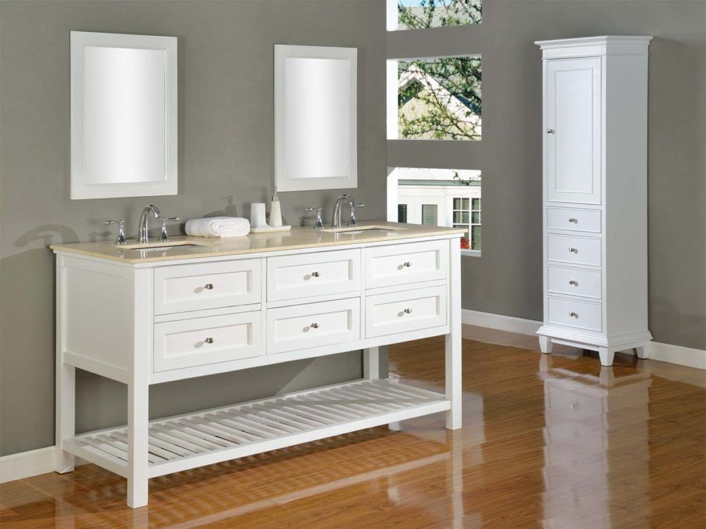 Marvelous Bathroom Vanities And Matching Linen Cabinets
