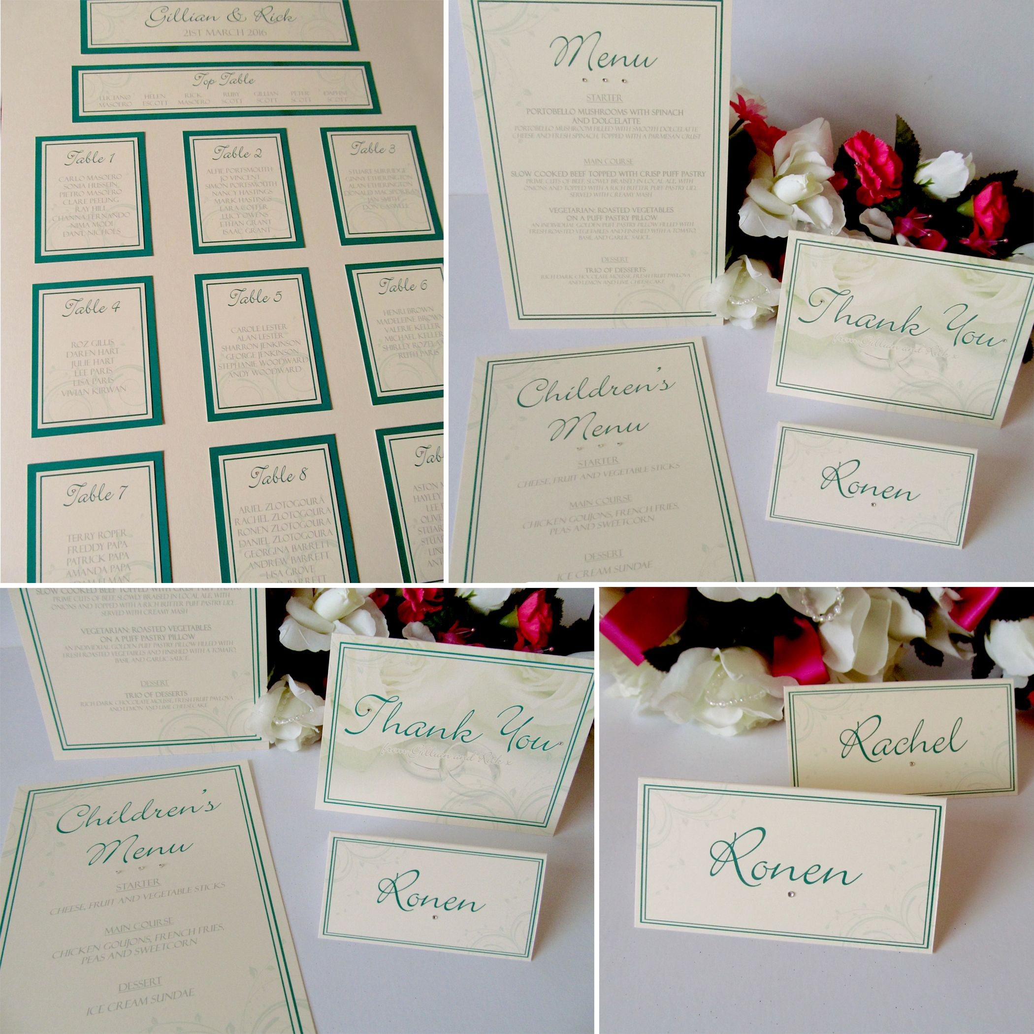 Wedding Invitations And Stationery From Yellow Blossom Designs Ltd A2 Table Plan Hunter Green