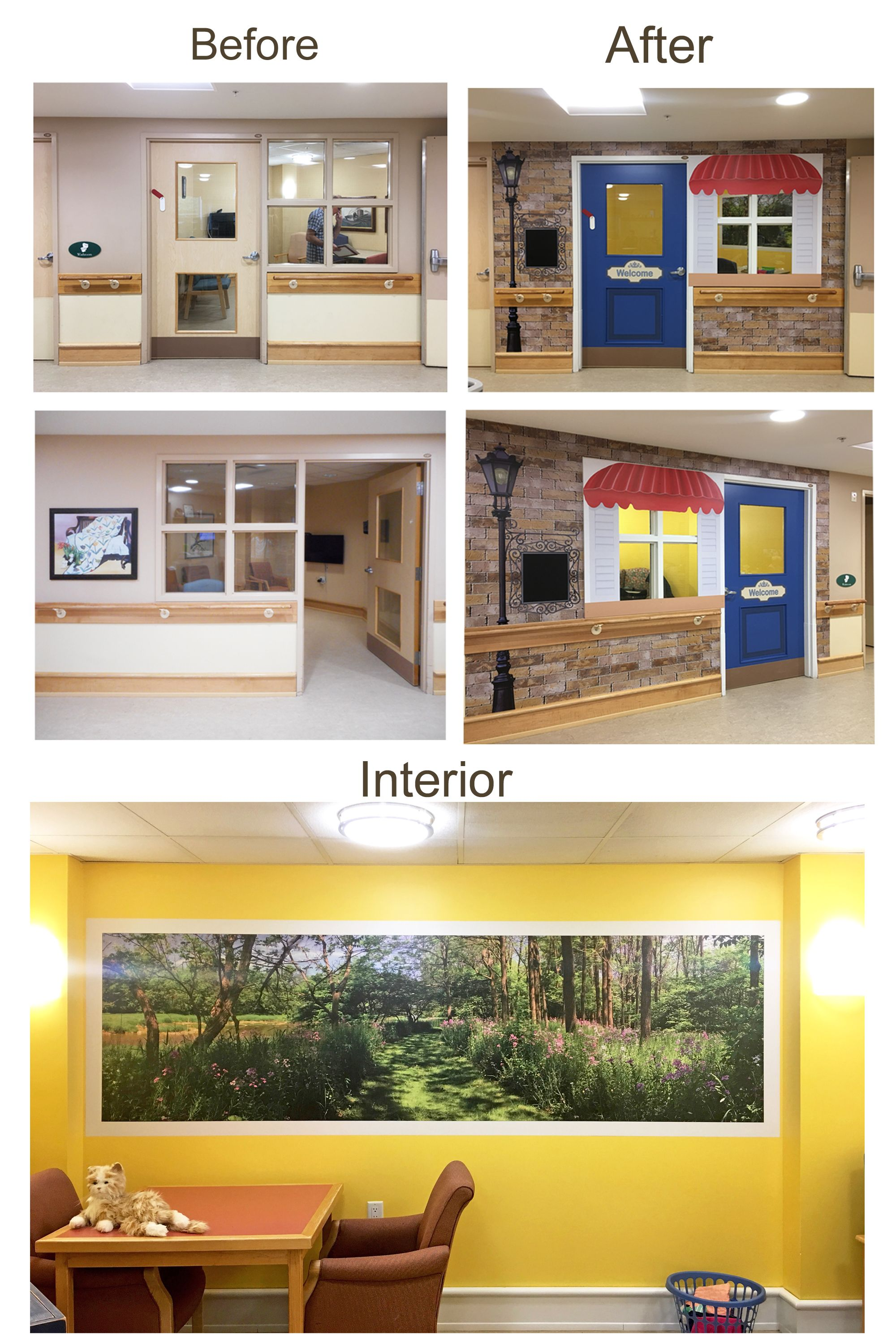 This Activity Room Makeover (X2) Makes This Space So Much More Inviting In This Memory Care
