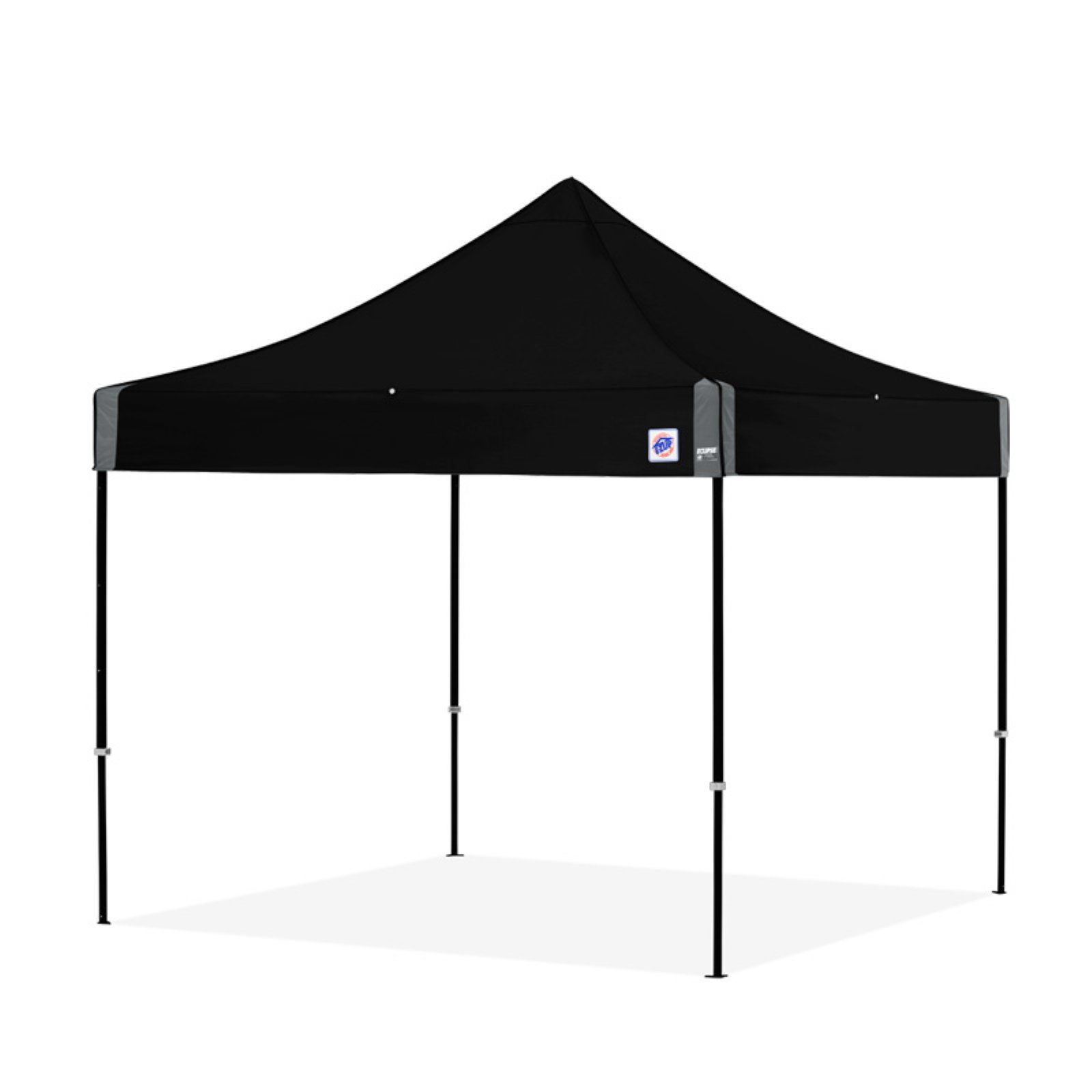 E Z Up Eclipse 10 X 10 Ft Canopy With Carbon Steel Frame Jet Black Black Steel Frame Canopy Steel