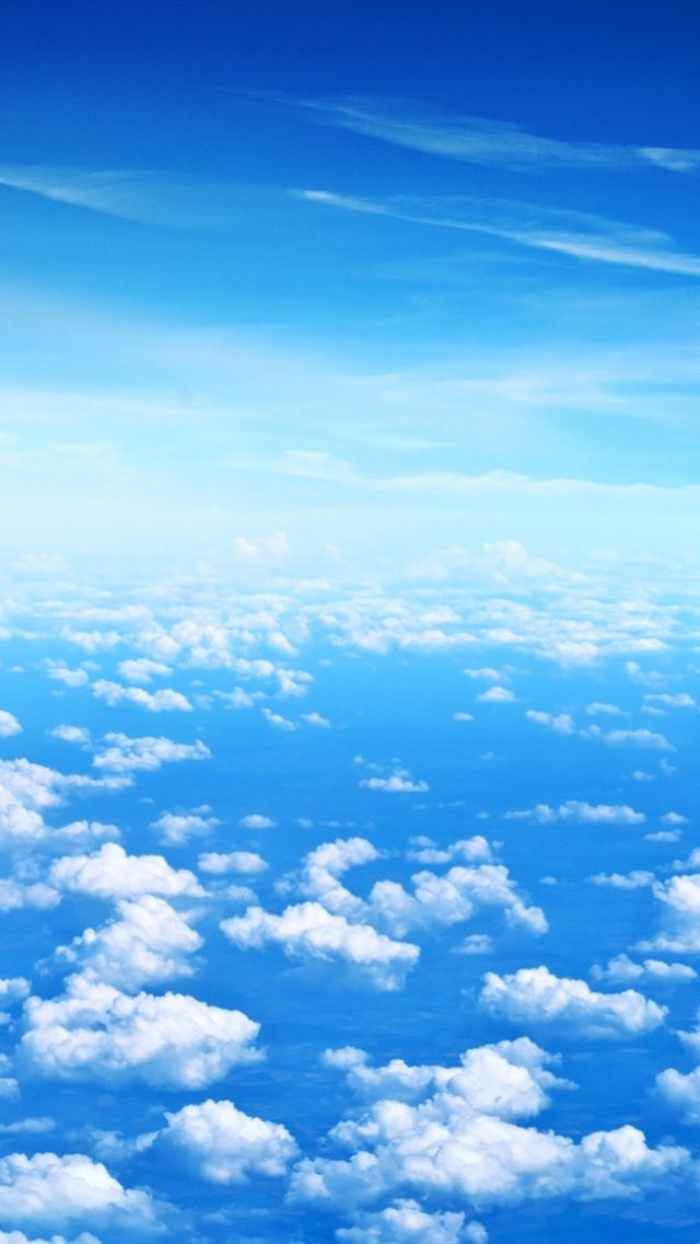 Blue sky, white clouds iPhone X 8,7,6,5,4,3GS wallpaper download