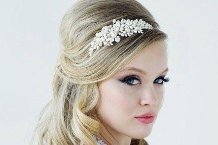 Bessie Pearl and Diamante Side Tiara Headband. The Bessie Wedding Side  Tiara Headband is a 163a6c4e3a1