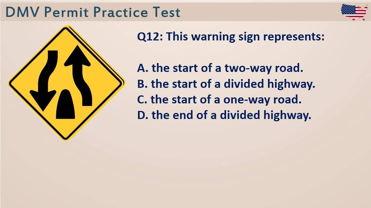 California DMV Permit Practice Test 1 (CA easy test questions ...