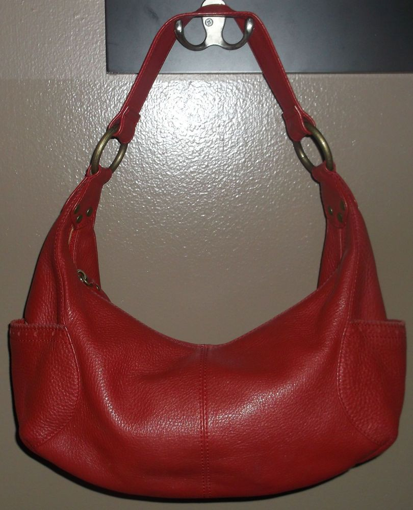 49 99 Or Best Offer Hobo International Purse Leather Shoulder Handbag Red Messenger Bag Satchel
