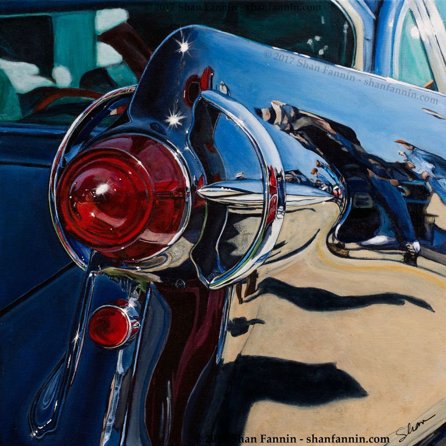 Artist Mixes Realism With Abstraction In Vehicle Paintings | Bored Panda