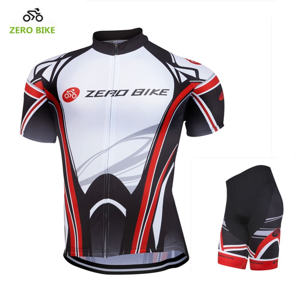 ZEROBIKE Breathable Bicycle Clothing T-shirts Cycling Jersey Sets Short Sleeve
