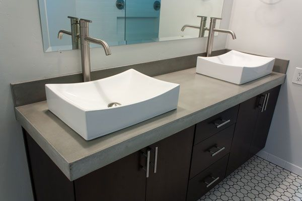 Unique Concrete Bathroom Vanity 4 Images Of
