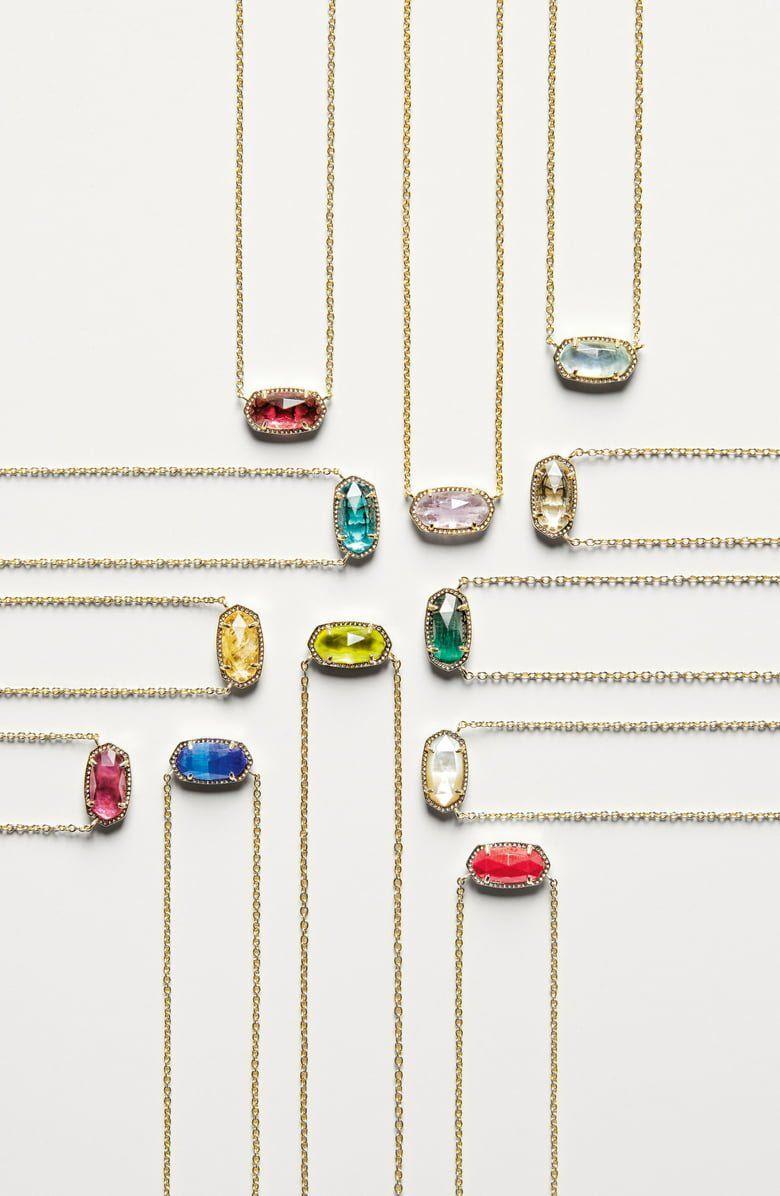 Kendra Scott Elisa Birthstone Pendant Necklace