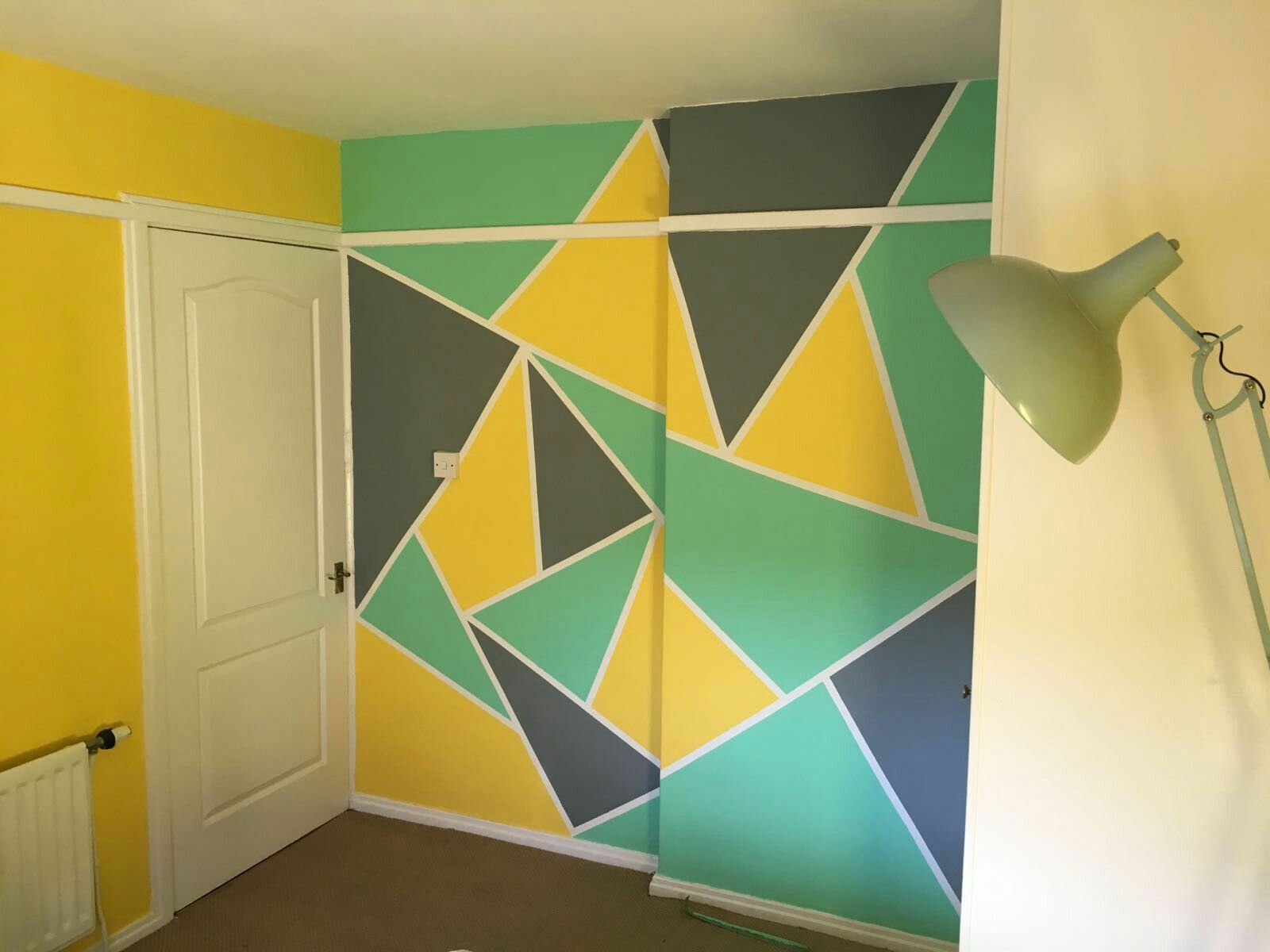 Wall painting idea using frog tape. | falfestés minta | Pinterest ...
