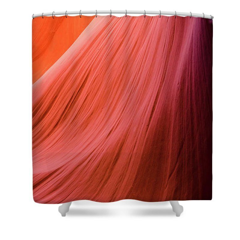 Orange Magic Shower Curtain featuring the photograph Orange Magic 8 by Elena Chukhlebova #showercurtain #orange #bathroomdecor #antelopecanyon #antelope #canyon #bathroomdecor #accent #bathroomaccent #nature #photo #elenachukhlebova #USA #America #homedecor