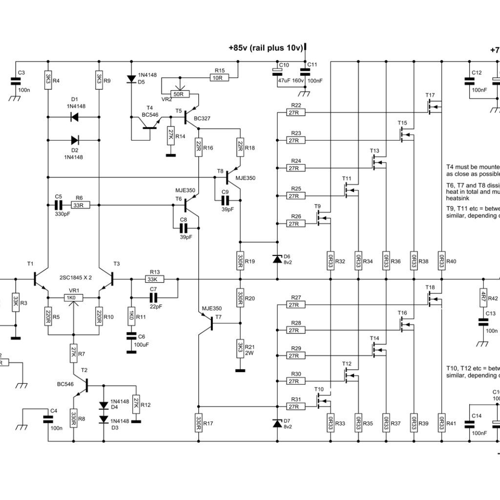 Auxiliary Symmetric Otl Power Amplifier Circuit Diagram Board 200 Watt For Car By 2sc2922 2sa1216