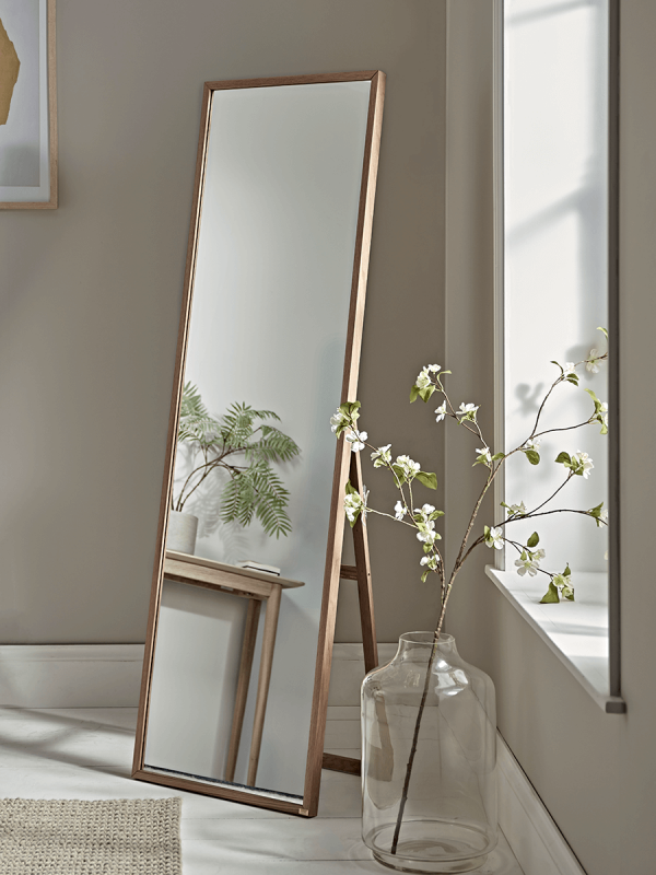 New Oak Full Length Standing Mirror Dekor Spalni Krutye Komnaty Roskoshnye Spalni