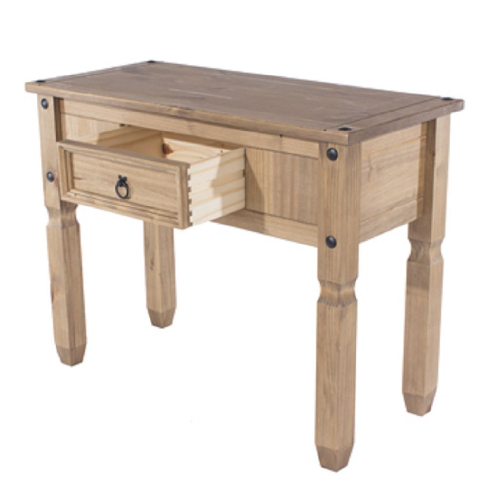 Premium Corona Console Table Pull Out Drawer With Real Dovetail