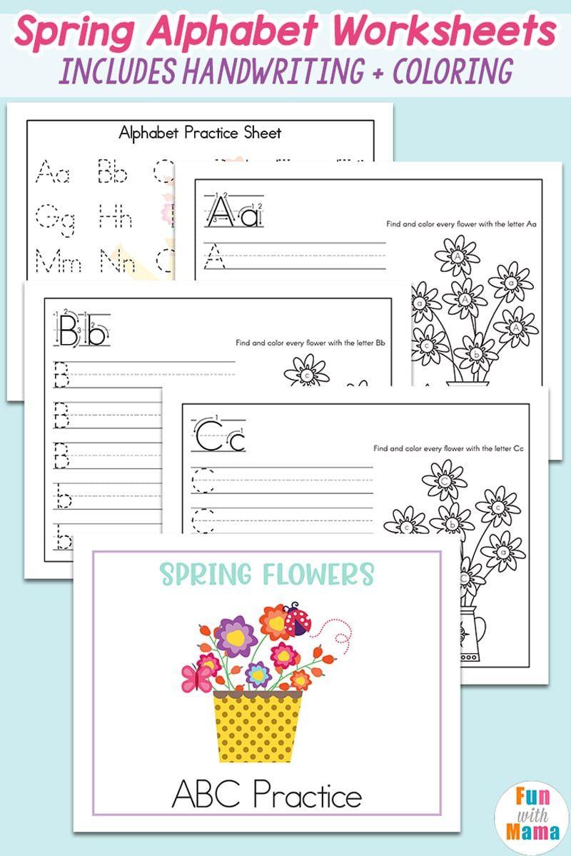 Kindergarten Worksheets Alphabet Recognition