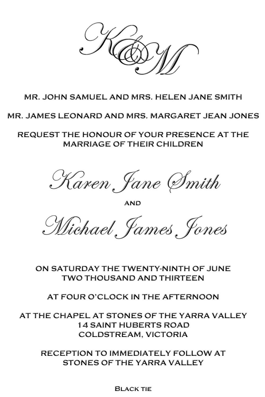 Wedding Invitation Wording Both Parents ~ Wedding Invitation