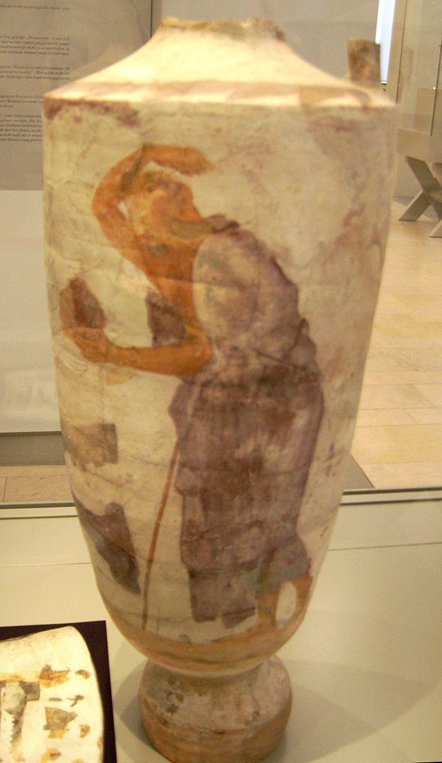 Attic White Ground Polychrome Lekynthos From Alopeke Dempe Of Athens