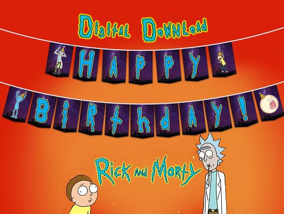 This Piece Of Art Is Made For An Instant Download Of A High Quality Pdf File Print As Many As You Like I Will I Printable Banner 22nd Birthday Rick And