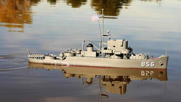 Dumas USS Whitehall 180' Patrol Craft Escort 1:96 Scale Model Ship