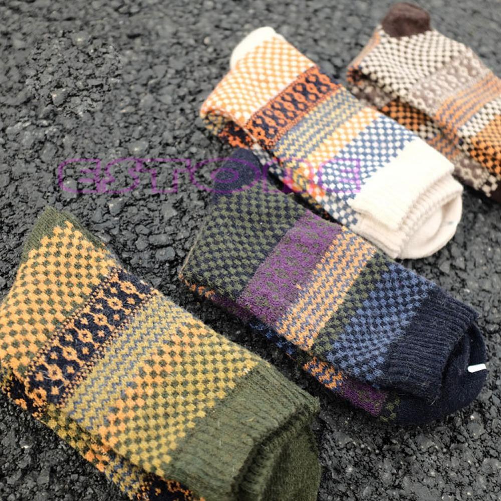 702c708ab4bce 4Pair Casual Mens Warm Winter Soft Thick Angora Cashmere Rabbit Wool Blend  Socks