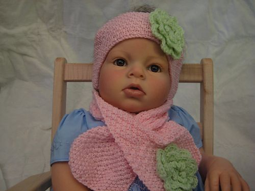 Scarf With Buttonhole Opening Headband For Baby Pattern By Myrtie