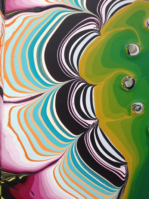 Pour paintings by Holton Rower   Brooklyn Living